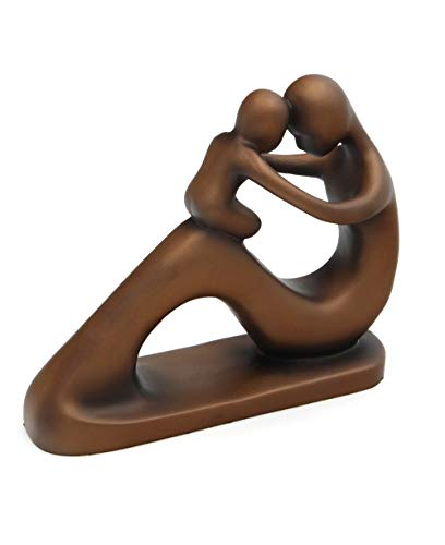 Cultural Elements Abstract Mother and Baby Statue, Bronze Finish ()