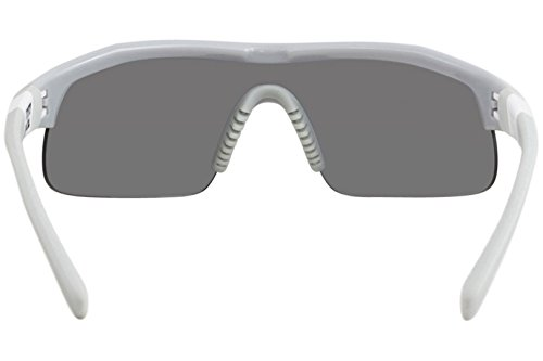 Nike Golf Show X1 Sunglasses, Wolf Grey/White Frame, Grey with Silver Flash/Outdoor Tint Lens by Nike Golf (Image #3)
