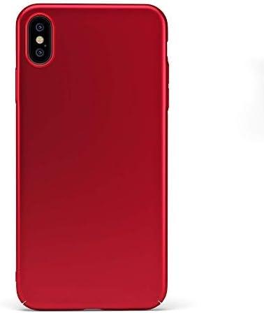 Custodia rigida sottile rosso opaco per iPhone XS Max - UltraSoft