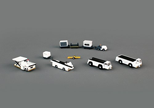 Gemini200 G2APS451 Airport Support Vehicles 5 Piece Set 1:200 Scale For Airport Diorama