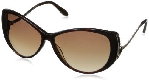 Roberto Cavalli Shades (Roberto Cavalli Women's RC741S6152F Cateye Sunglasses,Dark Havana,61 mm)
