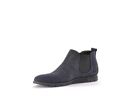 Blu FX women nabuk boots beatles comfort 53H2 navy booties FRAU blue Twxpd4Tv