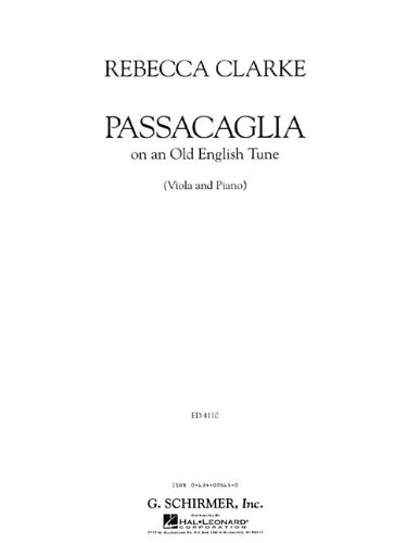 PASSACAGLIA VA/PNO           OF AN OLD ENGLISH TUNE VIOLA AND PIANO (Old English Tune)