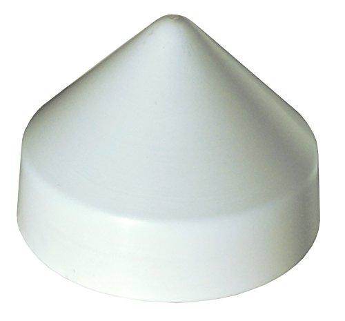 Dock Edge PVC Cone Head Piling Cap, White, 11-Inch