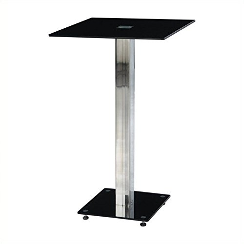 Atlin Designs Bar Table in Black and Silver by Atlin Designs