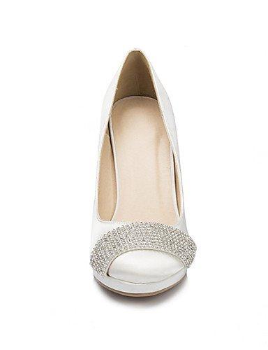GGX/Damen Schuhe Satin Stiletto Heel Heels Heels Hochzeit/Party & Abend/Kleid Elfenbein/Weiß 4in-4 3/4in-white