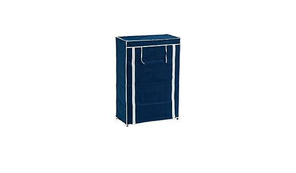 Mueble Zapatero de Tela Azul con 5 baldas Moderno para baño Vitta - LOLAhome: Amazon.es: Hogar