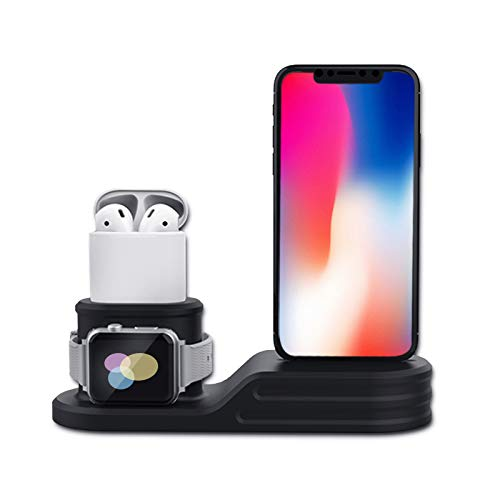 c0932965d12 Image Unavailable. Image not available for. Color: baozai 3 in 1 Silicone  Charging Stand Dock Compatible ...