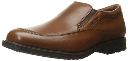 Rockport Men's Essential Details Waterproof Slip-On Loafer- Tan Antique Leather-11.5 W
