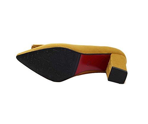 1to9mmsg00265 - Sandales Compensées Pour Femmes, Jaune (jaune), 35