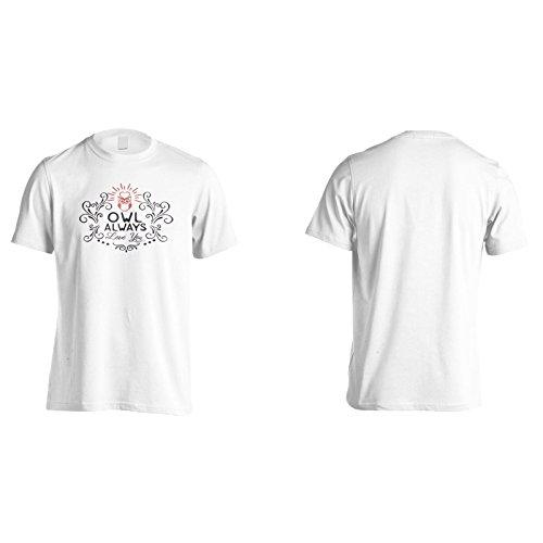 Eulen Lieben Dich Immer Herren T-Shirt n631m