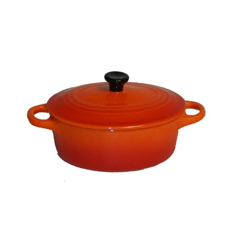 Orange Mini Dish (Paderno World Cuisine .28 Quart Oval Ceramic Casserole, Orange)