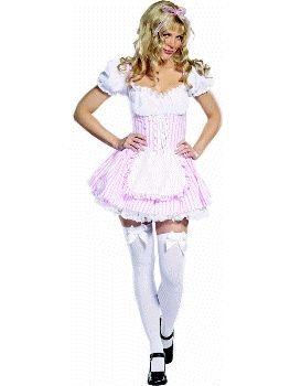 Candy Striper Girl (Pink) Adult Costume Size 10-12 Medium