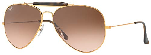 Ray-Ban RB3029 9001A5 OUTDOORSMAN II Unisex Gradient Aviator Sunglasses 62mm (Ray Ban Aviator Ii)