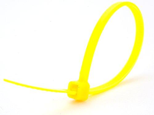 4 Inch Yellow Miniature Nylon Zip Tie - MS3367-4-4 - 100 Pack