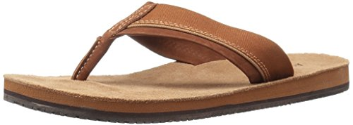 Aldo Men's Viscount Flip Flop, Cognac, 8 D US