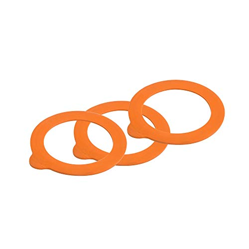 (Kilner 0025.489 Replacement Rubber Seals, Orange)