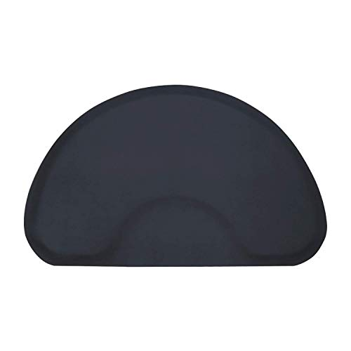 - Modern Elements 3 x 5 Black Solid Half-Circle Mat