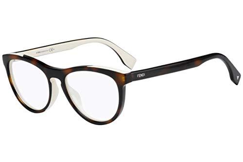 Fendi FF0123 Eyeglasses 51-17-140 Havana White w/Demo Clear Lens MIY FF 0123