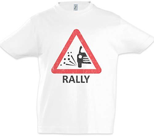 Urban Backwoods Rally Sign Kids Boys Children T-Shirt White