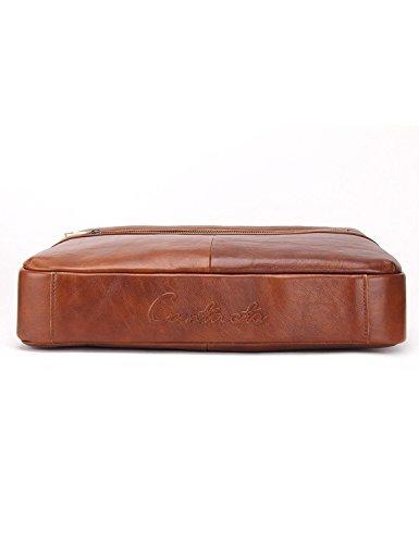 Hiram @ Vera Pelle 14 Mens Messenger Shoulder Bag Laptop Briefcase Marrone