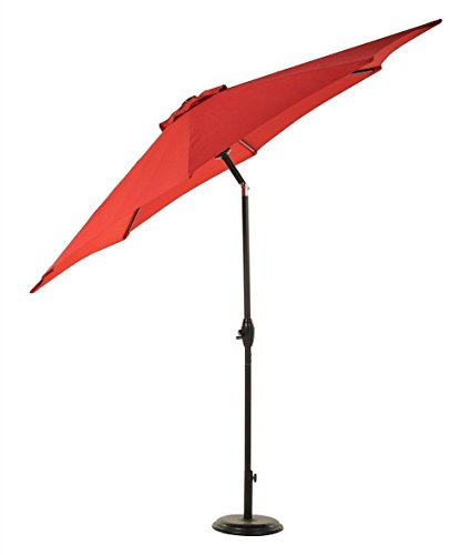 Brand New UV Blocking 9FT Patio Umbrella Aluminum Crank Tilt Outdoor Garden Backyard Beach/ Red # - Shops Town Orchard At Center