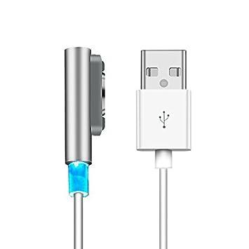 EasyULT Sony Xperia Magnético USB Carga Cable, USB Cable para Sony ...