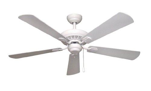 uptown ceiling fan matte white