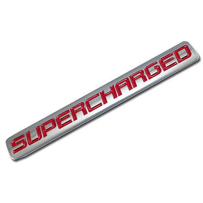 Chrome/Red Metal Supercharged Engine Race Motor Swap Badge For Trunk Hood Door for Mazda MX-5 Miata (Mazda Miata Trunk)