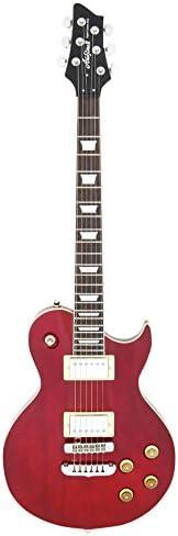 Aria PE350R - Guitarra Les Paul, color rojo: Amazon.es ...