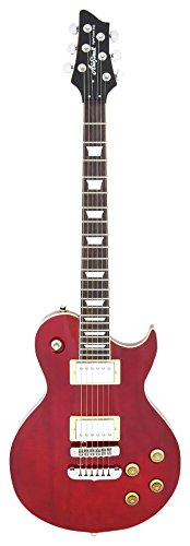 Aria PE350R - Guitarra Les Paul, color rojo