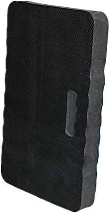 Christophy tragbare Knieunterlage mit Griff, wasserdicht, dicker Schaumstoff, Kniematte für Gärtner, Badewanne, Bad, Fitnessstudio, Gärtner Schwarz