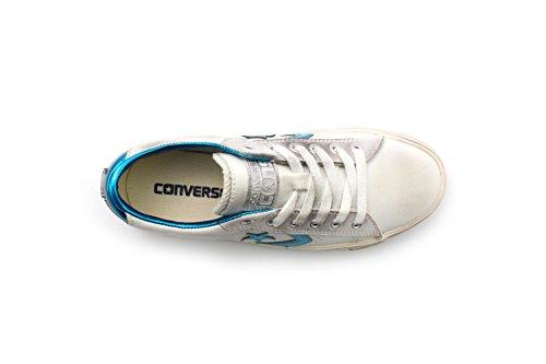 Pro Leather Collo white Blue Uomo turtledove spaint Ox Converse Sneaker Basso Bianco A Vulc axda6n5RY