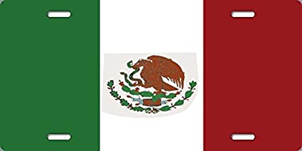 Home Comforts USA Mexico Flags Aluminum Auto License Plate Car Truck Tag Metal Sign New