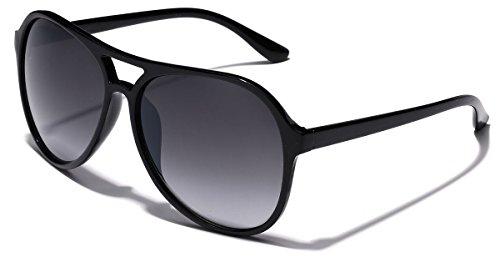 Aviator Vintage Womens Sunglasses Retro Eyewear Lens Black - 9