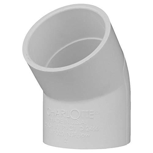 Charlotte Pipe 2 SCH 40/45 Degree Ell Sxs PVC Pressure (25 Unit Box)