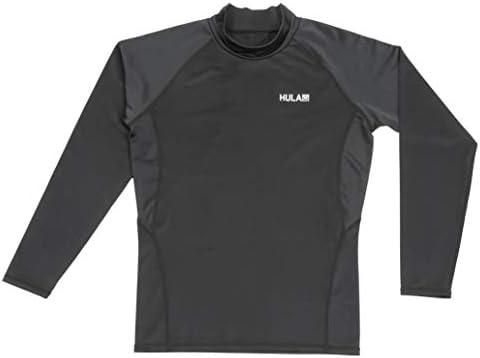 キャプテンスタッグ(CAPTAIN STAG) ラッシュガード メンズ 長袖 UPF50+ UVカット Lサイズ ブラック UX-996