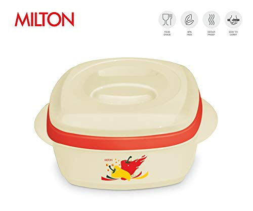 (Milton Milano Insulated Hot Pot/Casserole/Serving Bowl with Lid Stainless Steel Inner - Keep food Hot/Cold up to 4-6 hrs (1500ml, Beige))