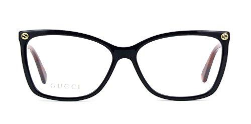 Gucci GG0025O Optical Frame 003 Black Avana 56 -