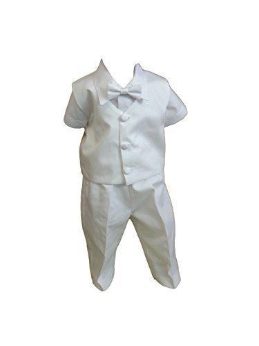 4938734e1 Traje De Bautizo Jóvenes De Bebé Infantil Traje De Boda De Fiesta, 5 Pcs ,  Blanco Lukasz: Amazon.es: Ropa y accesorios