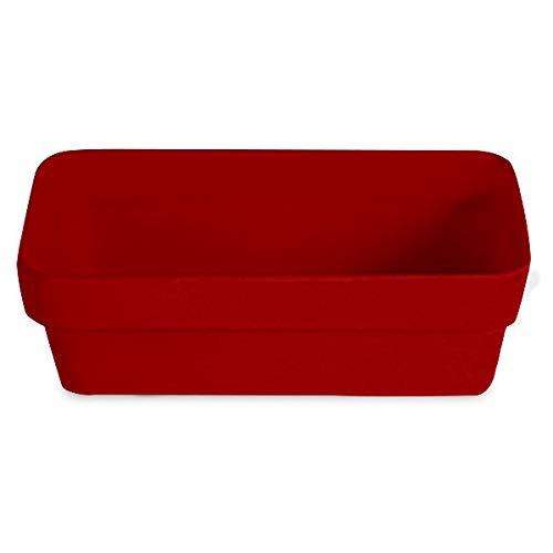 (G.E.T. Enterprises BUD33-MOD-FR Bugambilia Smooth MOD Finish Fire Red Resin-Coated Aluminum Rectangular Buffet Bowl)