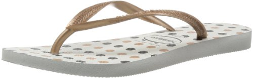 Havaianas Slim Fresh Damen Plateau Mehrfarbig (White/Rose Gold)