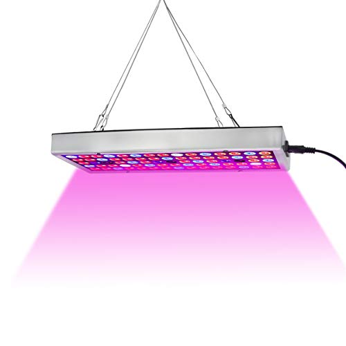 LED Grow Lights, Full Spectrum Panel Grow Lamp with IR & UV LED Grow Lights for Indoor Plants,Micro Greens,Clones,Succulents,Seedling (Best Fluorescent Bulbs For Growing Weed)