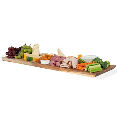(Wall Mountable Rectangular Cheese Serving Board and Decor Original Acacia Wood)