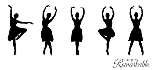 Vinyl Decal Sticker for Computer Wall Car Mac Macbook and More - Ballet Dancer Silhouette Decal ()