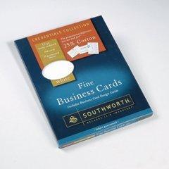 Amazon Southworth 25% Cotton Business Cards Ivory