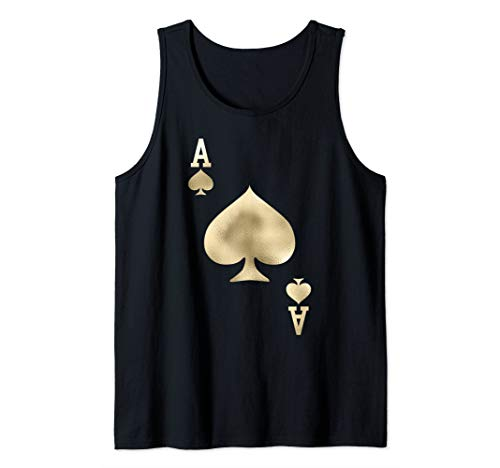 Ace of Spades - Playing Card Halloween Costume  Tank Top