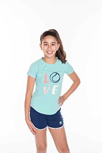 Girls Tennis 2' Piece Set - with T-Shirt Top and Tennis Shorts - ()