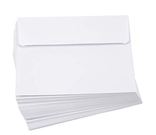 Darice Smooth A2 Envelopes, 4.37 x 5.75-Inch, White, 50-Pack -