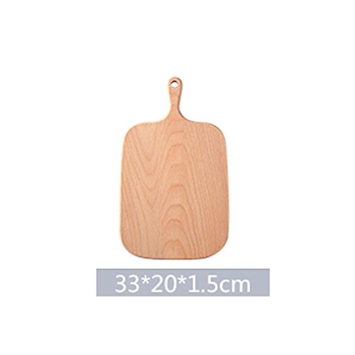 - 1 Pcs Black Walnut Chopping Blocks Kitchen Wood Food Plate Wooden Pizza Sushi Bread Whole Wood Tray Cutting Board No Paint 33 20 1.5cm